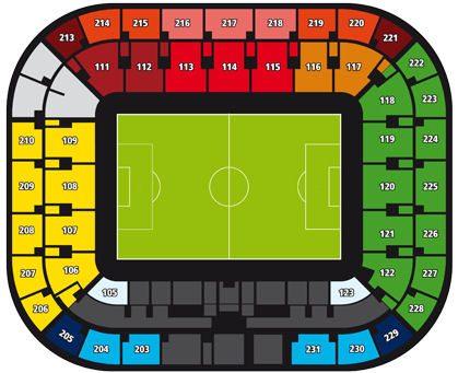 Mappa Settori Juventus Stadium